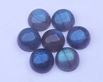 7 Pc Lot Labradorite Nice Quality 11 MM Round Gem Stone Labradorite Cabochon Labradorite Gem Stone Silver Smith Work Labradorite Gemstone