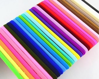 Nylon Headband Sample Pack 1 Piece, 23 Colors to Choose from, Baby and Toddler Nylon Headbands, Soft & Stretchy Elastic, One Size Fits all.