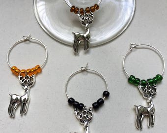 Deer/Hunting Wine Charms