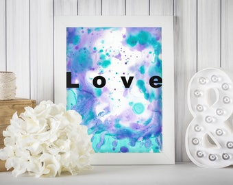 Flow of Love, Wall Print, Printable art, Romantic Print, Anniversary Print
