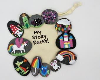 unicorns and rainbows story stones