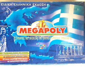 Vintage Greek Board Game Megapoly Monopoly Special Greek Language Edition Game By Mika Complete