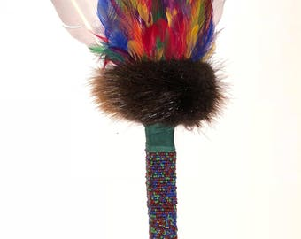 Multi Colored Native American Prayer Fan