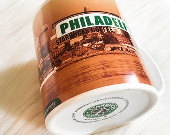1999 Starbucks Coffee Mug Philadelphia Collectible