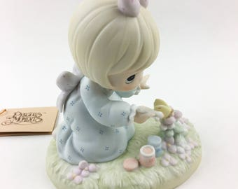 Vintage Precious Moments 1988 Members Only God Bless You For Touching My Life Figurine PM-881