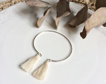 ELÉA bracelet silver and pompons