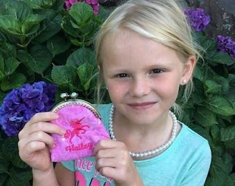 Personalized coin purse - Monogrammed coin purse - Custom coin purse - Kiss lock coin purse - Unicorn coin purse