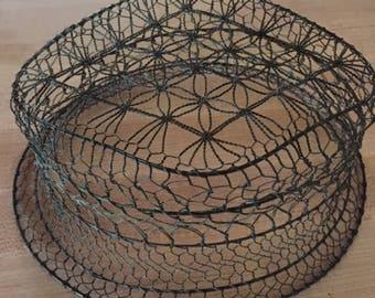 Old Wire Ware, Vintage Wire Form, Unusual Collectible Wireware Hat, Unique Antique Wire Ware, Wire Ware Milliners Form, Unusual Old Wire