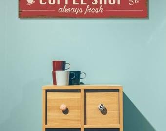 Coffee Shop Wood Sign
