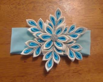 Snowflake headband, Christmas headband
