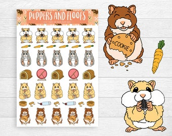 Hamsters Hammie Hamster Cute Pet Stickers