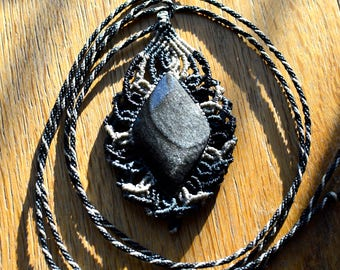 Mexican Obsidian necklace