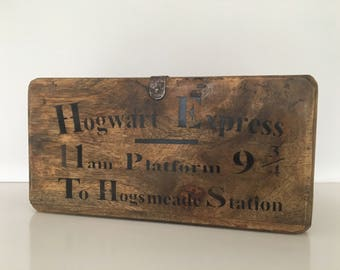 Hogwarts Express wooden crate