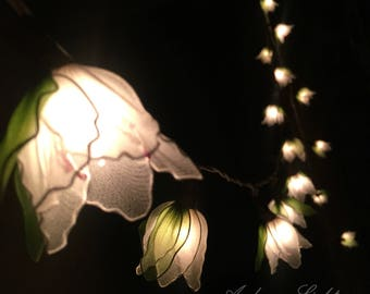 20 White Cut Flower Fairy String Lights Party Patio Wedding Garland Gift Home Living Bedroom Holiday Decor