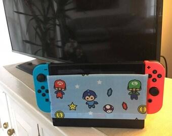 Baby Nintendo Characters Switch Dock Cover/Dock Sock - Mario, Luigi, Mega Man, Link