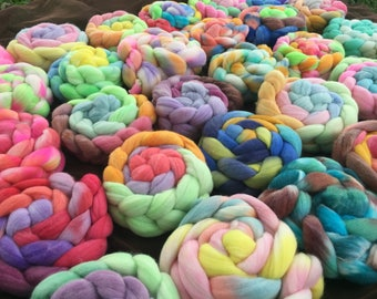 Fiber Club, Monthly Roving Subscription, Merino Roving