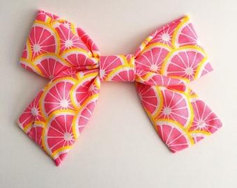 Lemon Slice Bow Barrette