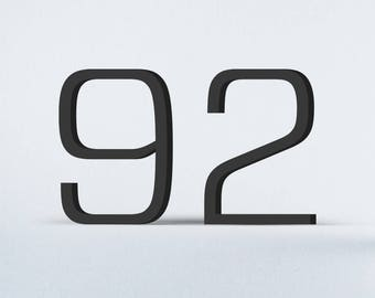 Flat Cut Acrylic House Numbers - Forza Light
