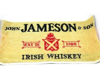 70s Jameson Irish Whiskey Bar Towel Barware Decor Bartender Watering Hole Pub Decor Ireland United Kingdom Man Cave Gift For Him Breweriana