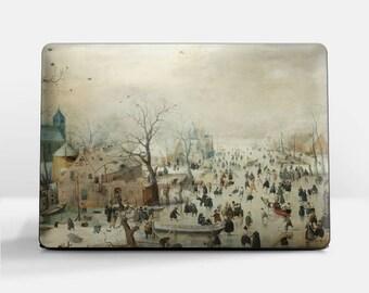 "Laptop skin (Custom size). Hendrick Avercamp, ""Winter Landscape with Skaters"". Laptop cover, HP, Lenovo, Dell, Sony, Asus, Samsung etc."