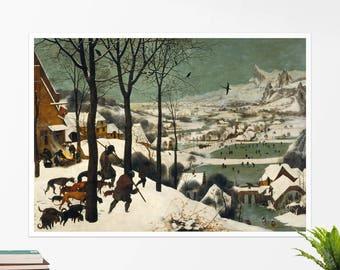 """Pieter Bruegel, """"Hunters on the Snow"""".  Art poster, art print, rolled canvas, art canvas, wall art, wall decor"""