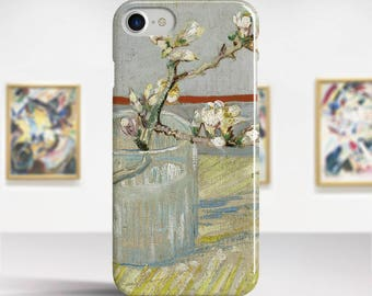 "Vincent Van Gogh, ""Sprig of Flowering Almond"". iPhone 7 Case Art iPhone 6 Case iPhone 8 Plus Case and more. iPhone 7 TOUGH cases."
