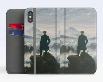 """C. D. Friedrich, """"The Wanderer Above the Sea..."""". iPhone X Wallet case iPhone 8 Wallet case  iPhone 7 Plus Wallet case. Samsung Wallet cases"""