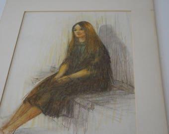 "Original Print by Juan Ricardo, signed, Title is ""Helen"""