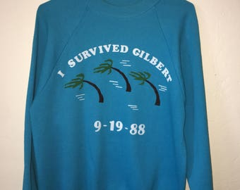 I survived Hurricane gilbert crewneck sweatshirt.