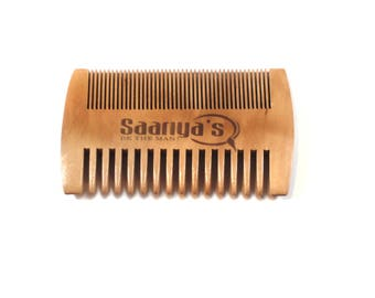 Pearwood Beard Comb by Saariya's