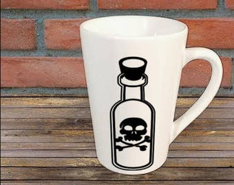 Poison Bottle Horror Mug Coffee Cup Halloween Gift Home Decor Kitchen Bar Gift for Her Him