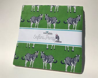 "Safari Party 10"" Stackers by Riley Blake - 42 Pieces"