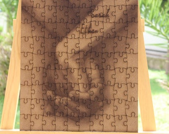 Wedding Guest book puzzle , Hand in hand puzzle , Rustic Puzzle , Custom Puzzle Wedding guest book alternative puzzle image Wooden puzzle