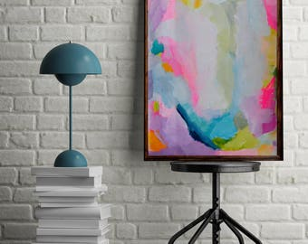 Colourful abstract painting, original acrylic painting, bright painting, abstract painting 'Blink'