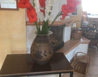 Vintage vase German pottery flower vase