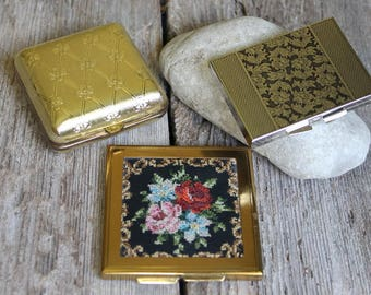 Vintage Compact Lot, Vintage Compacts, 1950's compact, Emrich Compact, Free Shipping