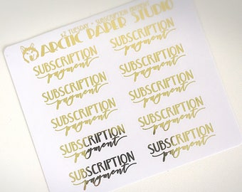 Subscription Payment - FOILED Sampler Event Icons Planner Stickers