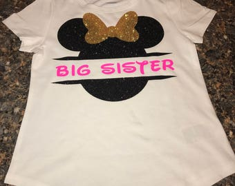 Big Sister Minnie Mouse Personalized Shirt