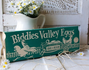 Biddies Valley Eggs Carton - 1930's - Egg Box - Farmhouse - Chicken -
