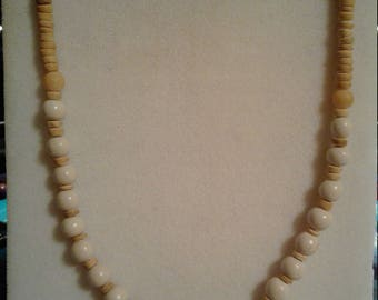 Assorted Wooden Beaded Necklace #153