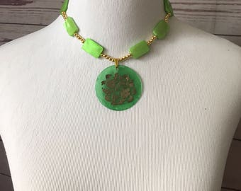 Green Goddess Pendant Necklace