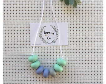 Spring Rain ~ silicone teething necklace