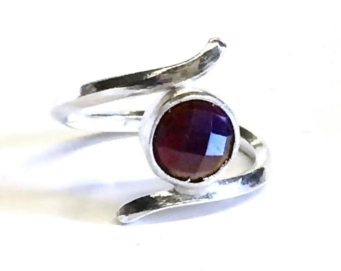 Garnet (Round) Adjustable Ring