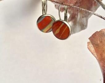 Hand-painted Leverback Earrings