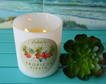 TROPICAL FIESTA/Handpoured Scented Soy Candle