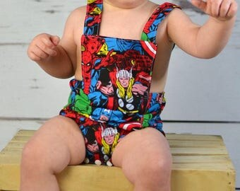 Baby superhero romper, baby girl clothes, baby romper, photography prop, Baby Bodysuit, Marvel Romper, Birthday Outfit, Baby boy Romper