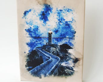 The Lighthouse, Wall Art, Canvas Art, Print of Oil Painting, Canvas Print