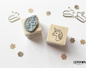 Stamp magical unicorn / / cubes