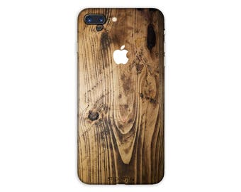 WOOD iPhone Skin WOOD iPhone Sticker Case wood texture iPhone Decal wood pattern iPhone 7  plus iPhone 6 iPhone 6s 6 plus 5 5s SE PS025