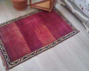 Oushak Rug,Vintage Rug,Turkish rug,Office rug,70x100cm,Oushak Rug,2x3ft,Home Living,Floor Rug,Area Rug,Fashion Rug,Red Colors Rug, Rugs,